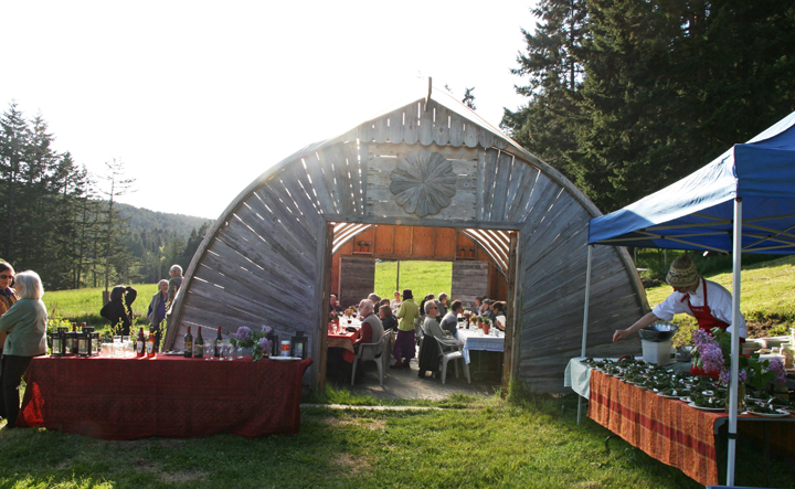 The Inaugural Farm Dinner fundraiser at Salt Spring Seeds, May 10, 2014.