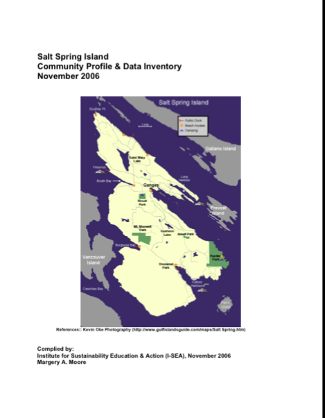 (2006) Salt Spring Island Community Profile and Data Inventory
