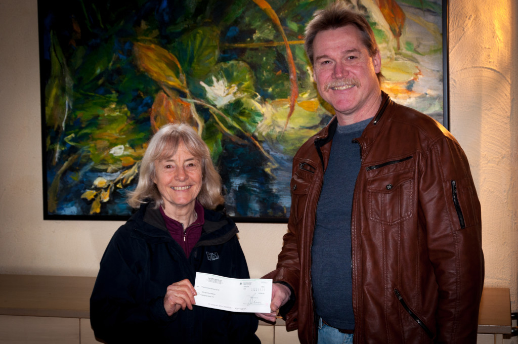 Anne Macey & Marcel Kauer cheque presentation