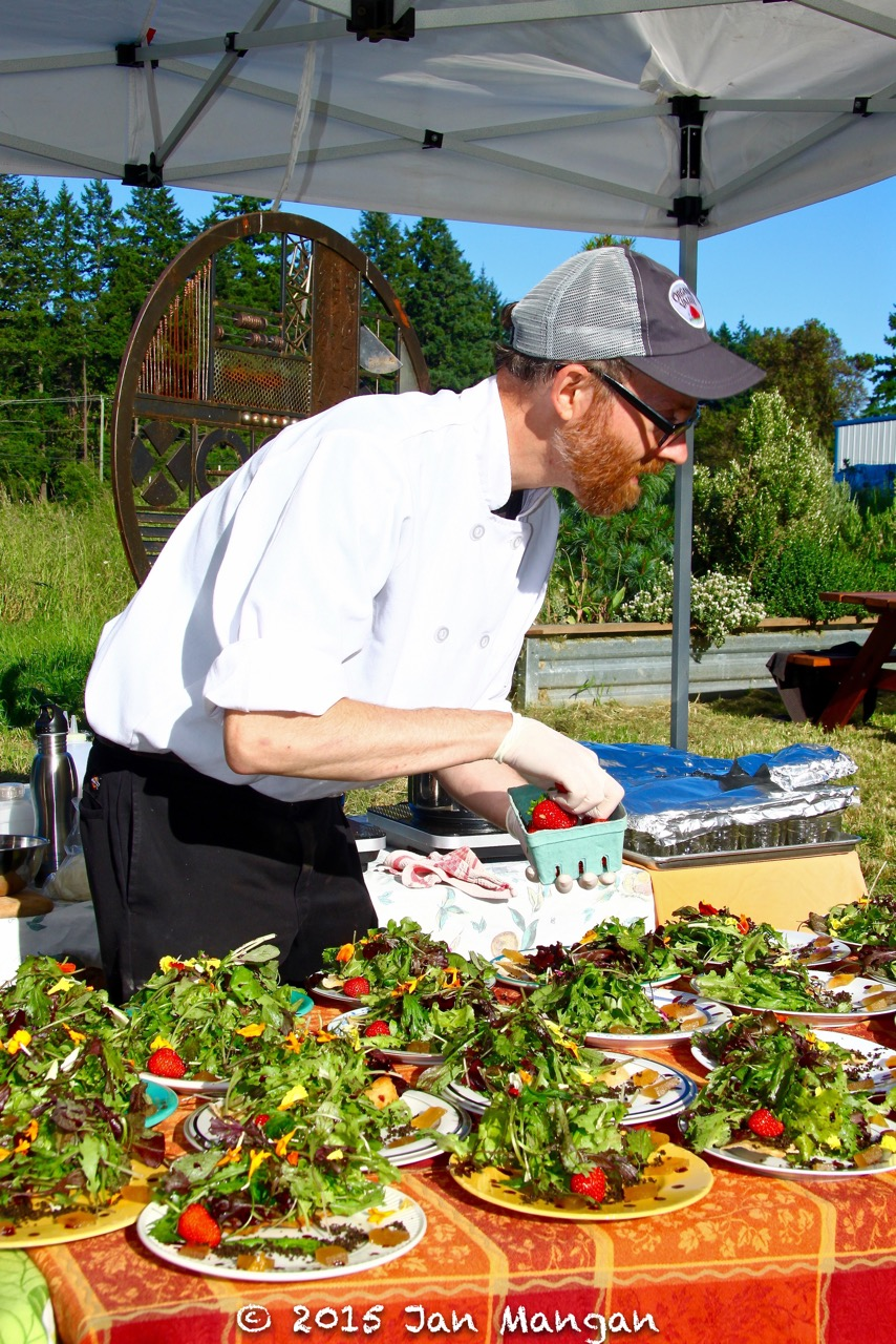 Chef Marcus Gill at Golden Tree Farm