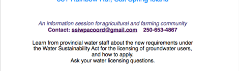 Water Licensing and Agriculture Workshop