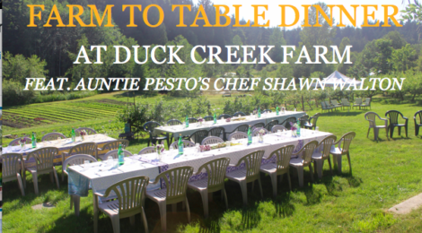 SOLD OUT- LOCAL DUCK DINNER AT DUCK CREEK FARM